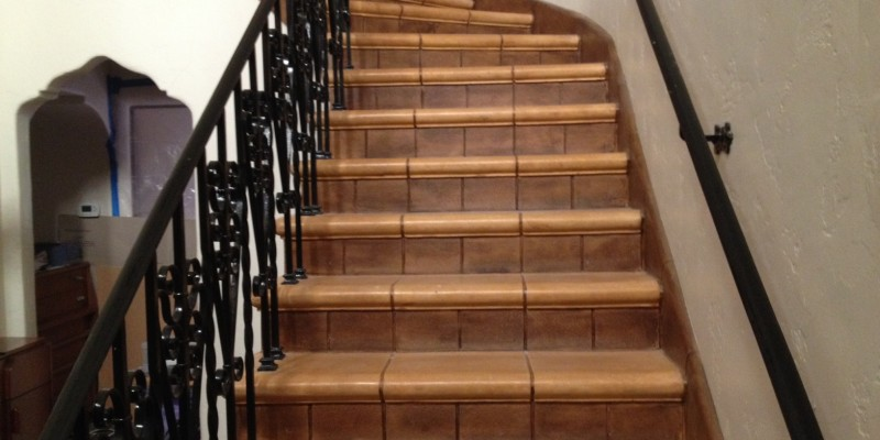 Magnesite stairway