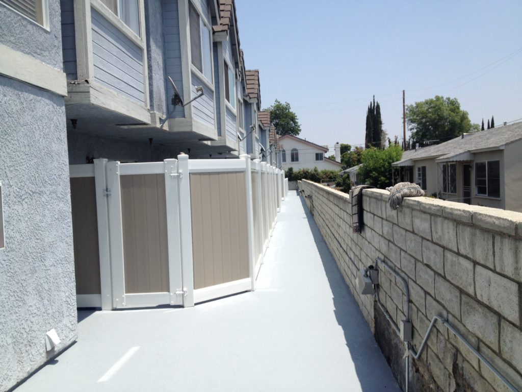 The walkway was resealed with the Desert Flex System.