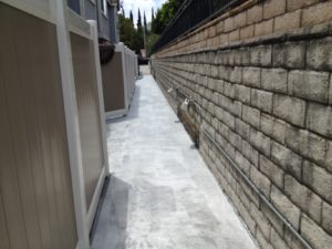 This walkway was pressure washed in preparation for a reseal.